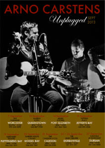 ARNO CARSTENS UNPLUGGED TOUR POSTER SEPT 2013